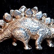 GORHAM STERLING  Dinosaur  Pendent Brooch/Pin - signed