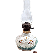 CONSOLIDATED  Lamp & Glass Miniature Oil Lamp