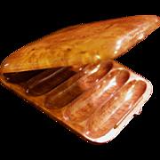 Russian Karelian Beechwood Burl Cigar Case/Box - Dovetail Seamless Hidden Hinge - Edwardian Era