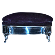 HENRY CLIFFORD DAVIS  1907 Antique Sterling Jewelry Box - Pin/Hatpin  Cushion Top - English