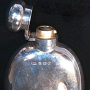Curved Sterling Hip Flask - Marston & Bayliss, 1921 Birmingham - Not Monogrammed