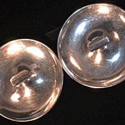 Pr. S. KIRK & SON 1924 - Art Deco Balancing Sterling Silver Cigar/Cheroot/Cigarette Ashtrays