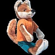 SCHUCO BIGO Mohair Plush Hippie Fox (1950s-1960s