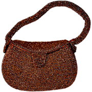 JOSEF - Belgian Copper Micro Bead Box Purse