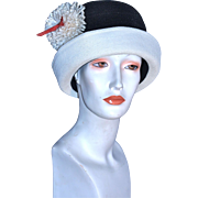 MISS CARNEGIE Flapper Cloche Hat by Hattie Carnegie