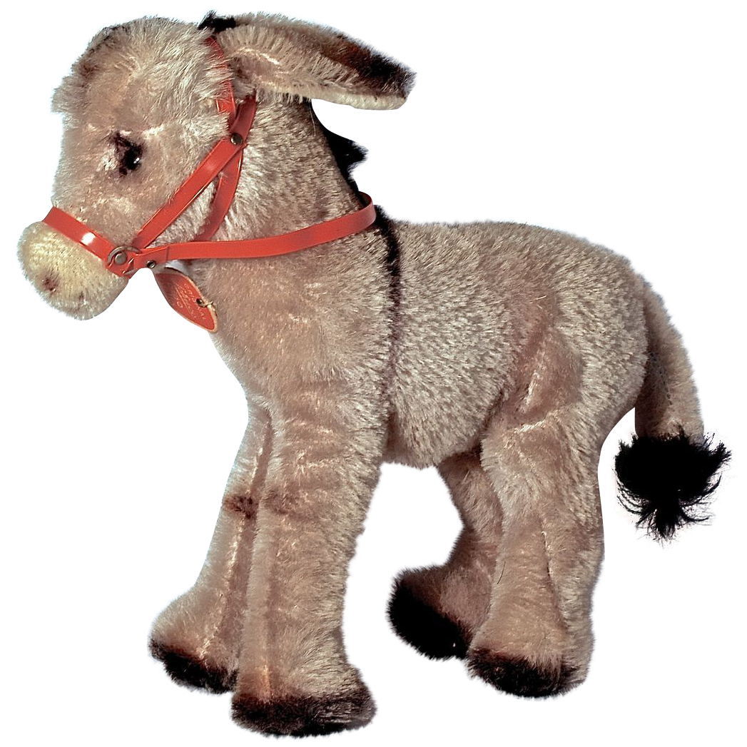 SCHUCO BIGO BELLO Standing Donkey with Red Harness & Tag