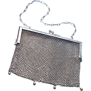 MESH PURSE - German Silver - Perfect Condition