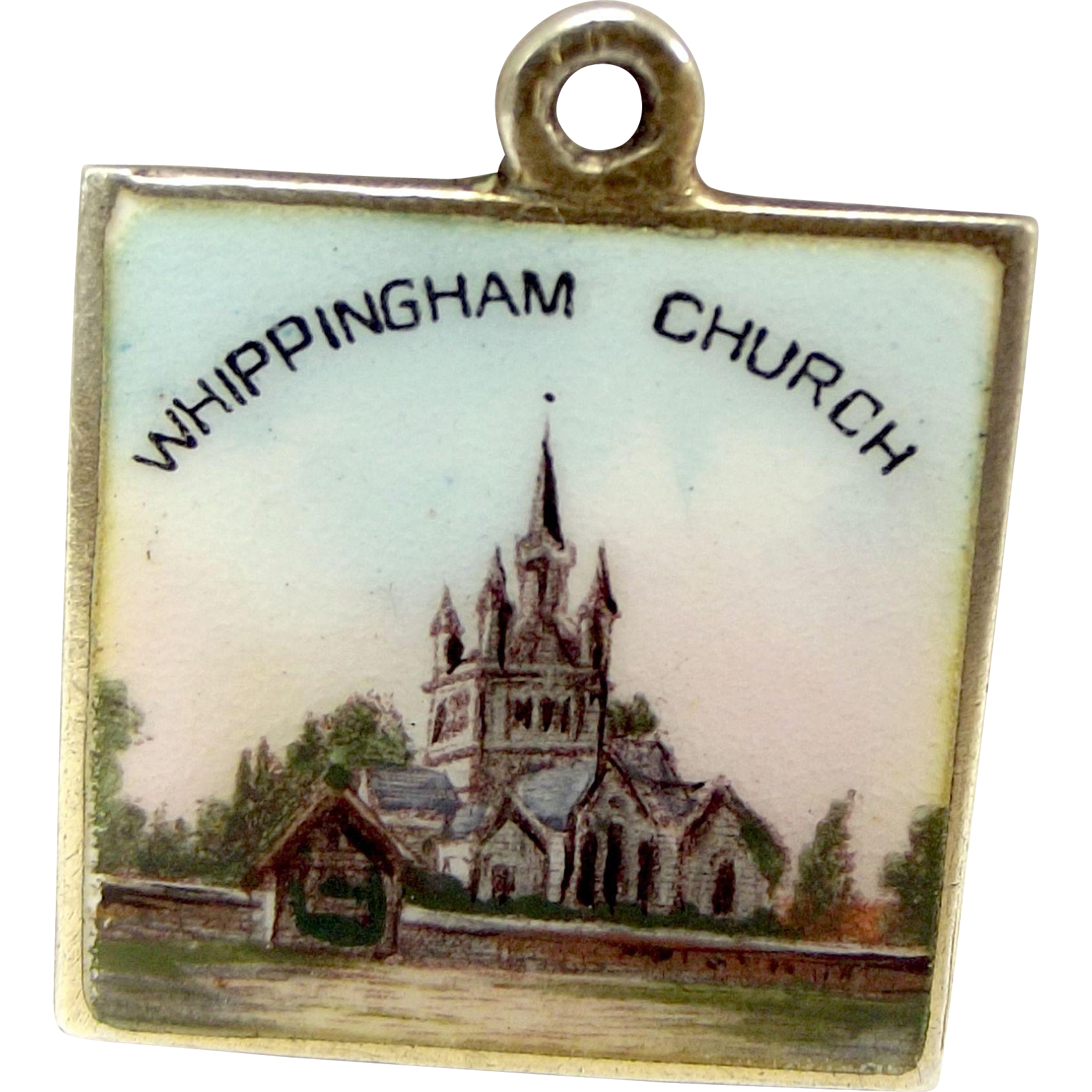 Victorian Silver Gilt & Enamel WHIPPINGHAM Church Charm