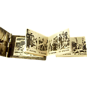 Victorian Silver Plate French 14 Stations Of The Cross Book Photos