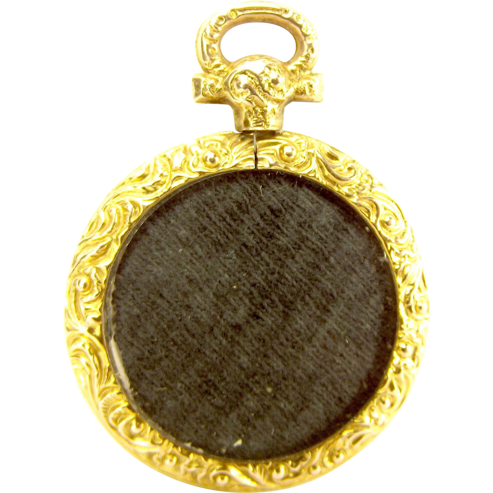 1907 EDWARDIAN 9ct Gold Pocket Watch LOCKET Double Sided