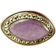 Antique 9ct Gold & Paste 'EYE' Brooch Pin