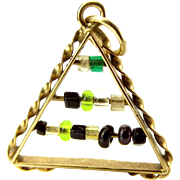 Vintage 9ct Gold Charm Moving ABACUS Beads 1966