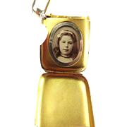 RARE Antique Silver VESTA Case 1914 Concealed LOCKET
