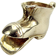1963 Vintage 9ct Gold Old BOOT Charm Pendant Fob Heavy 5g