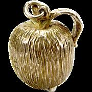 Vintage Sterling Silver APPLE Fruit Charm FOB Pendant Birmingham 1977
