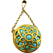 Georgian & Victorian 18ct 15ct 9ct Gold & Turquoise PENDANT Fob Marriage Conversion