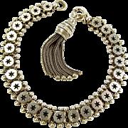 Victorian Silver STAR Bracelet & TASSEL Charm
