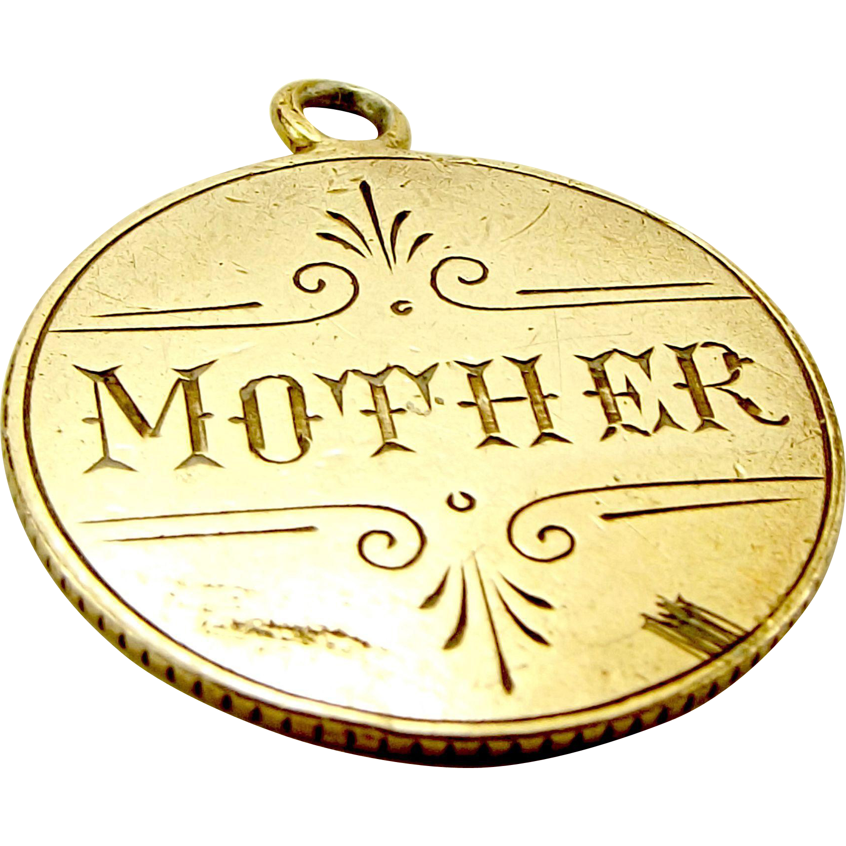Victorian 925 Silver GILT Canada 5 Cents Coin MOTHER Love Token Charm