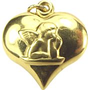 Vintage 9ct Gold Raphael's Angel PUTTI Cherub Repousse Charm