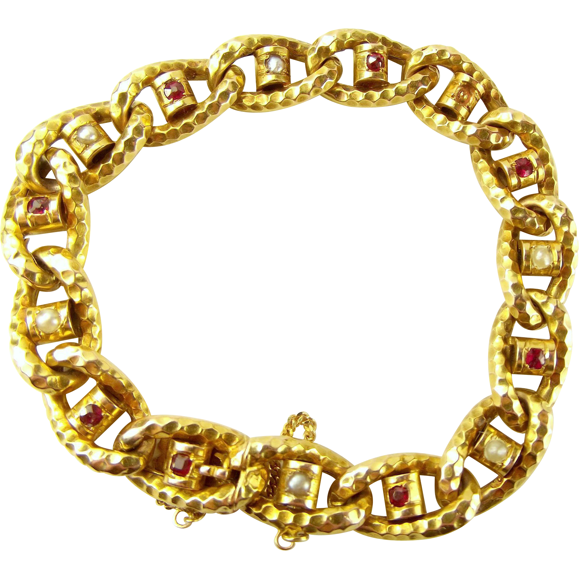 Antique Victorian 18ct Gold ORNATE Gem Set Bracelet