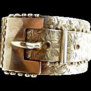Antique VICTORIAN Silver BUCKLE Cuff Bracelet 1880