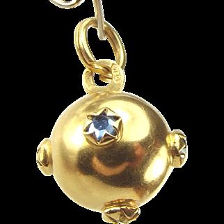 Vintage 18ct Gold SPUTNIK Charm Paste Set