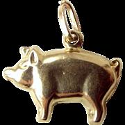 Vintage 9ct Gold PIG Charm