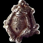 Vintage Silver Charm FOB Pendant 3 WISE MONKEYS 1976