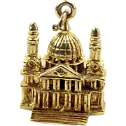 Vintage 9ct Gold ST. PAUL'S CATHEDRAL Charm 1956 = 61 years old.