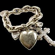 OMG Huge Vintage Charm Bracelet + 2 HUGE Charms & Others.