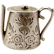 Antique EDWARDIAN Silver Hand Made TEA POT Charm