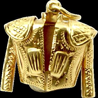 Vintage 18ct Gold Ornate MATADORS JACKET Charm Pendant