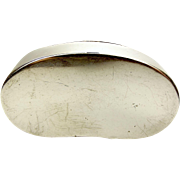 Antique Sterling Silver KIDNEY Shaped SNUFF BOX Hmk 1914