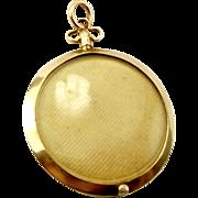 EDWARDIAN Double Sided 9ct Gold LOCKET 1910 Hinged Frame Unusual