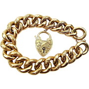 OMG Massive Edwardian 9ct Gold DAY & NIGHT Bracelet 43.5g