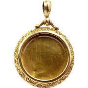 EDWARDIAN 9ct Gold LOCKET Removable Glass Front 1904