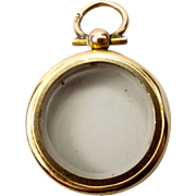 Victorian 9ct Gold Photo LOCKET Cavity Suitable For Gems Double Sided