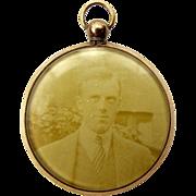 Edwardian 9ct Gold Doubled Sided Glazed Picture LOCKET