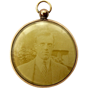 Edwardian 9ct Gold Filled Doubled Sided Glazed Picture LOCKET
