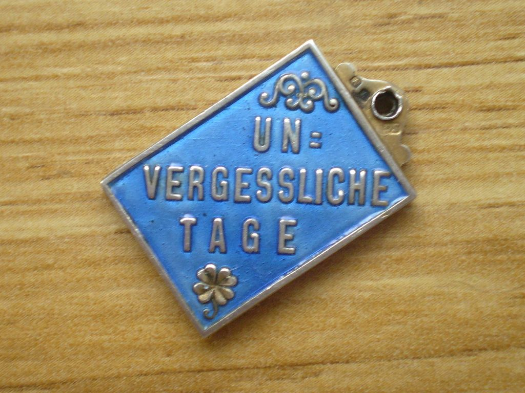 Antique Viennese Silver Gilt & Enamel Charm An Unforgettable Day