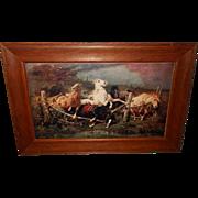 Horses Fleeing a Fire by Adolf Schreyer - 1902 Chicago Tribune Supplement