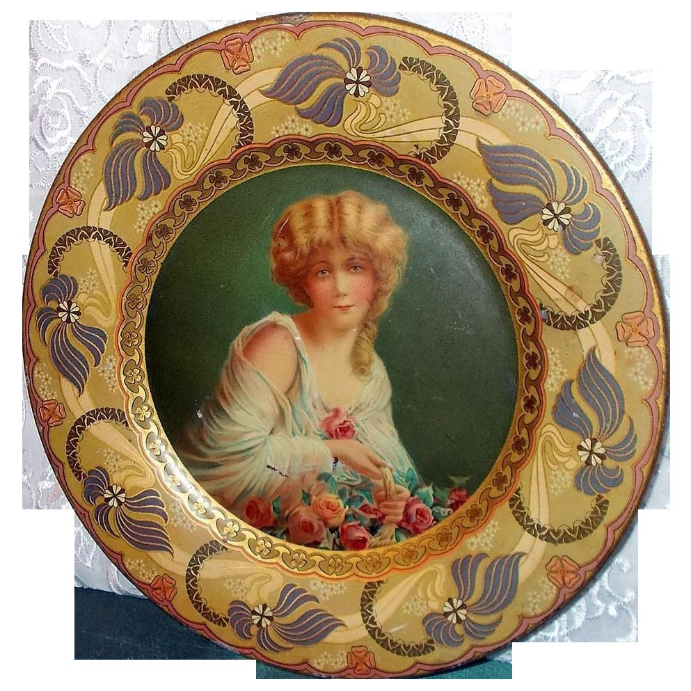Vienna Art Plate - Royal Saxony - Flower Girl Jane