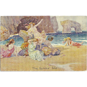Artist Signed Thomas Maybank Postcard of The Syrens' Isle