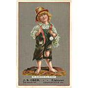 Vintage Advertising Postcard for Elgin Watches