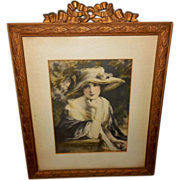 Zula Kenyon Lovely Lady in Large Hat - Ornate Frame