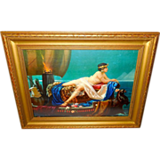 Cleopatra on Barge by Hy Hintermeister - Wood Frame - Red Tag Sale Item