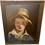 Vintage Print of the Boy with the Torn Hat by Thomas Sully