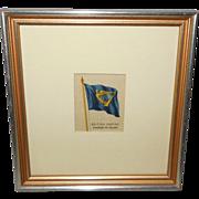 Silk Flag of British Empire Standard of Ireland - 1 of 3