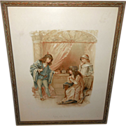 Frances Brundage Vintage Print of Shakespeare's Portia and Antonio