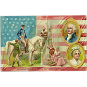 Raphael Tuck Embossed Postcard - George Washington's Birthday